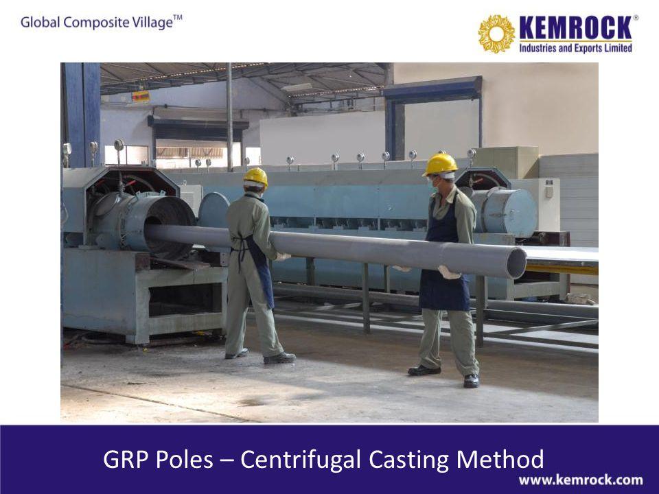 GRP Poles – Centrifugal Casting Method