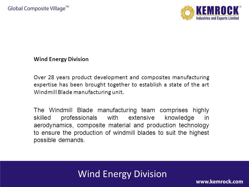 Wind Energy Division Wind Energy Division