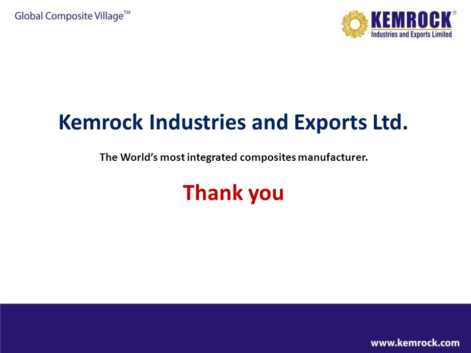 Kemrock Industries and Exports Ltd. Thank you