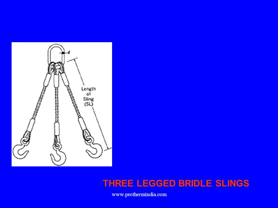 THREE LEGGED BRIDLE SLINGS