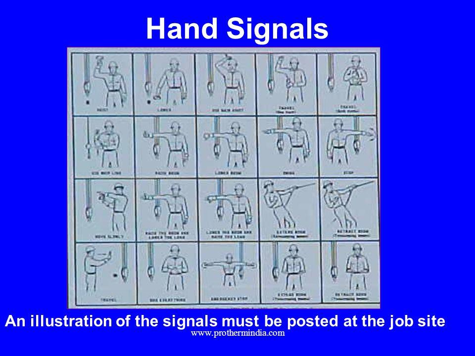 Hand Signals APPLICABLE OSHA STANDARD.