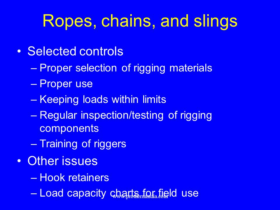 Ropes, chains, and slings
