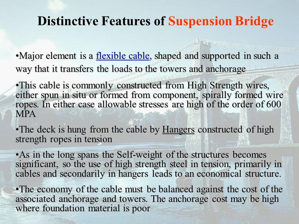 Distinctive Features of Suspension Bridge
