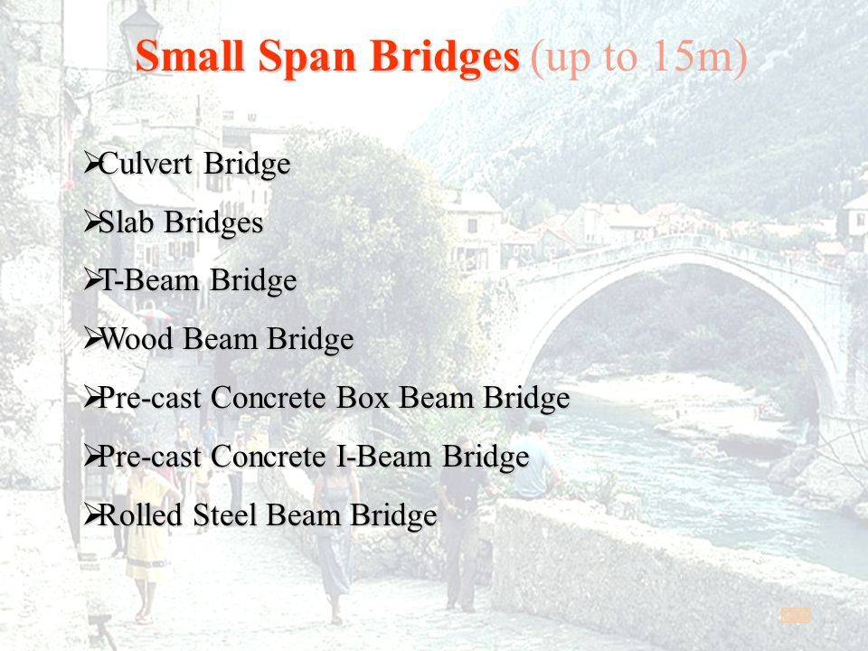 Small Span Bridges (up to 15m)