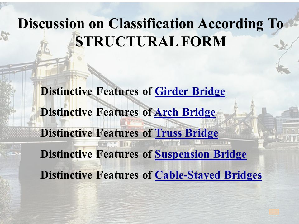 Discussion on Classification According To STRUCTURAL FORM