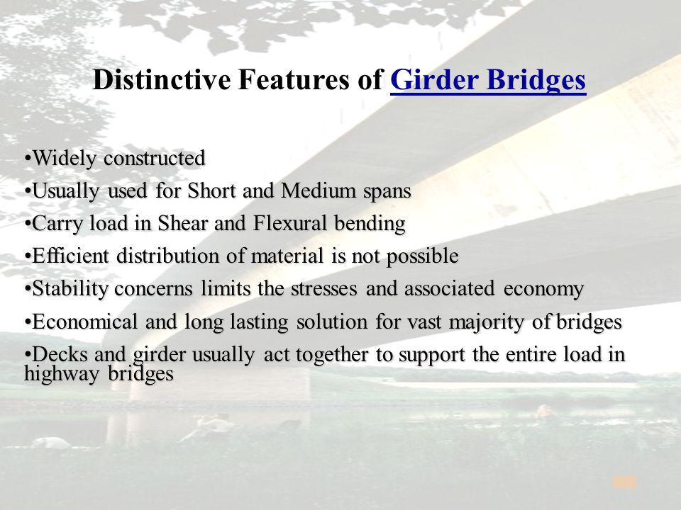 Distinctive Features of Girder Bridges