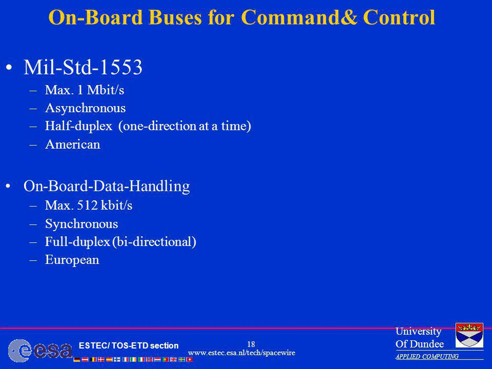 On-Board Buses for Command& Control