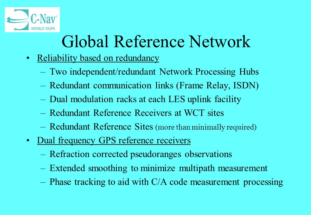 Global Reference Network
