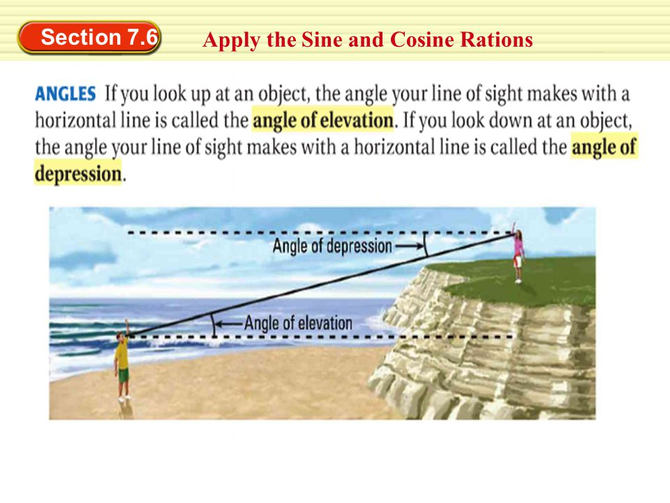Section 7.6 Apply the Sine and Cosine Rations