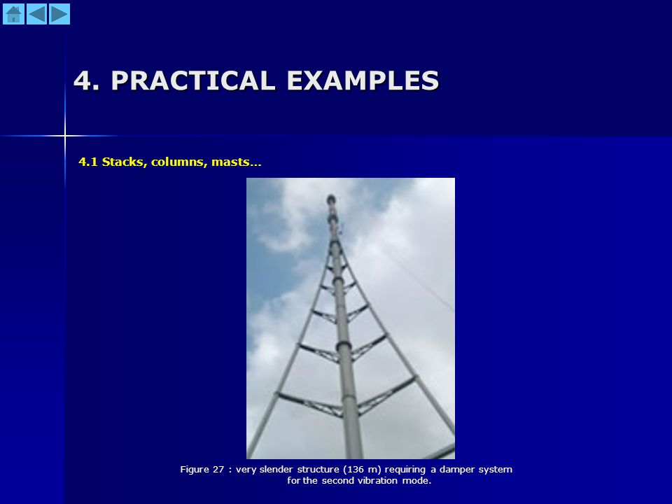 4. PRACTICAL EXAMPLES 4.1 Stacks, columns, masts…