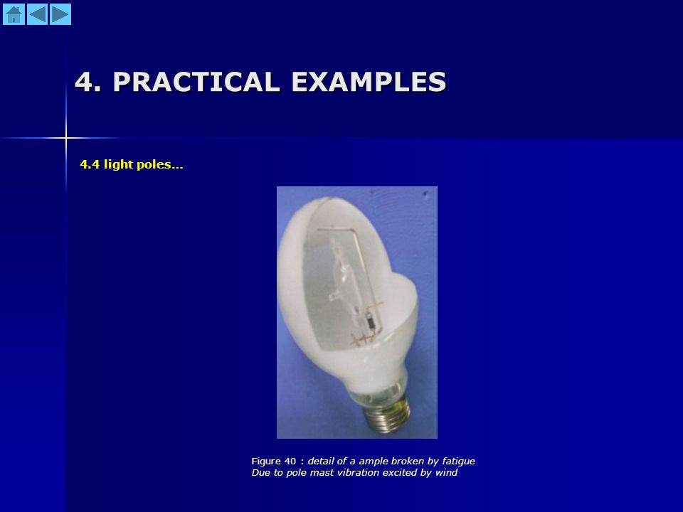 4. PRACTICAL EXAMPLES 4.4 light poles…