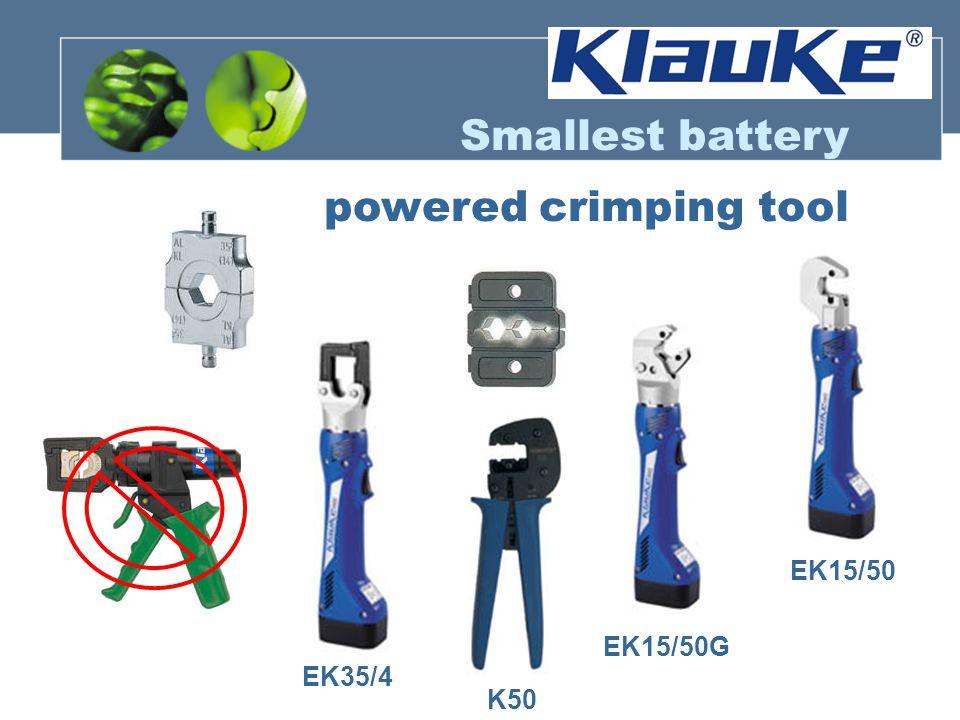 Smallest battery powered crimping tool EK15/50 EK15/50G EK35/4 K50