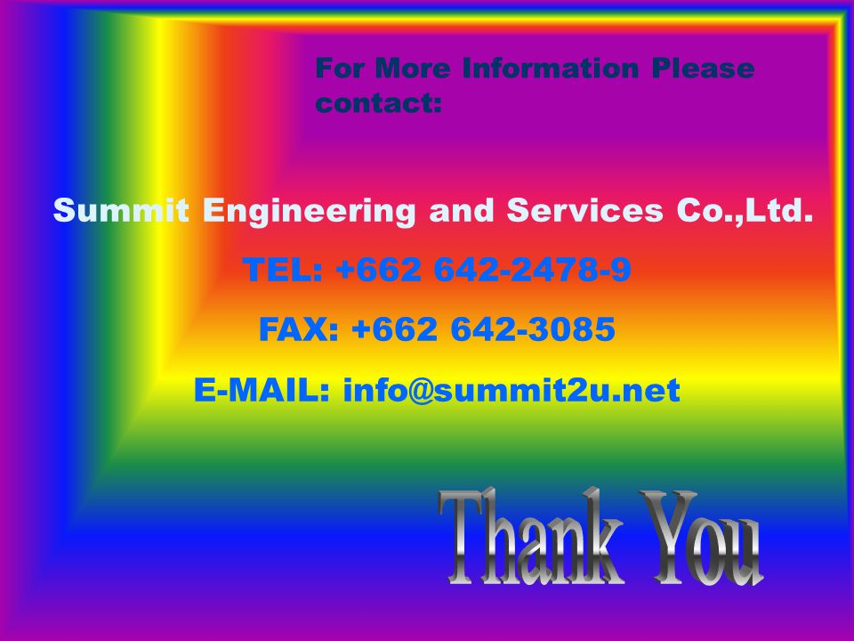 For More Information Please contact: