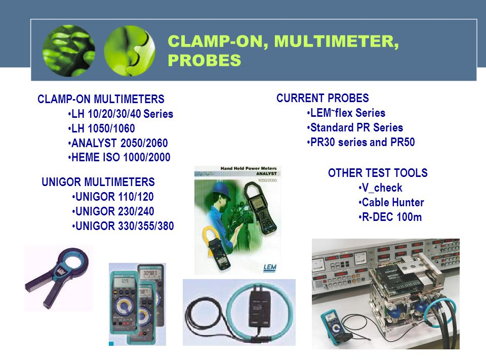 CLAMP-ON, MULTIMETER, PROBES