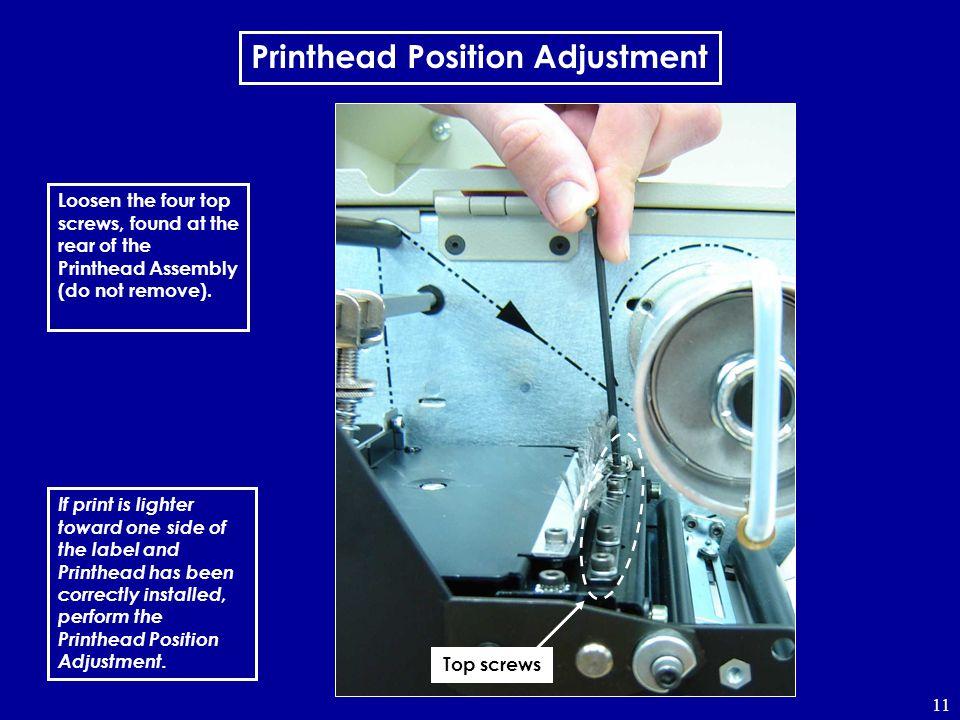 Printhead Position Adjustment