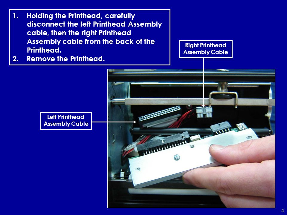 Right Printhead Assembly Cable