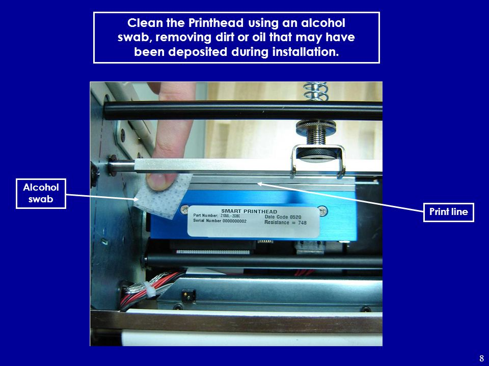 Clean the Printhead using an alcohol