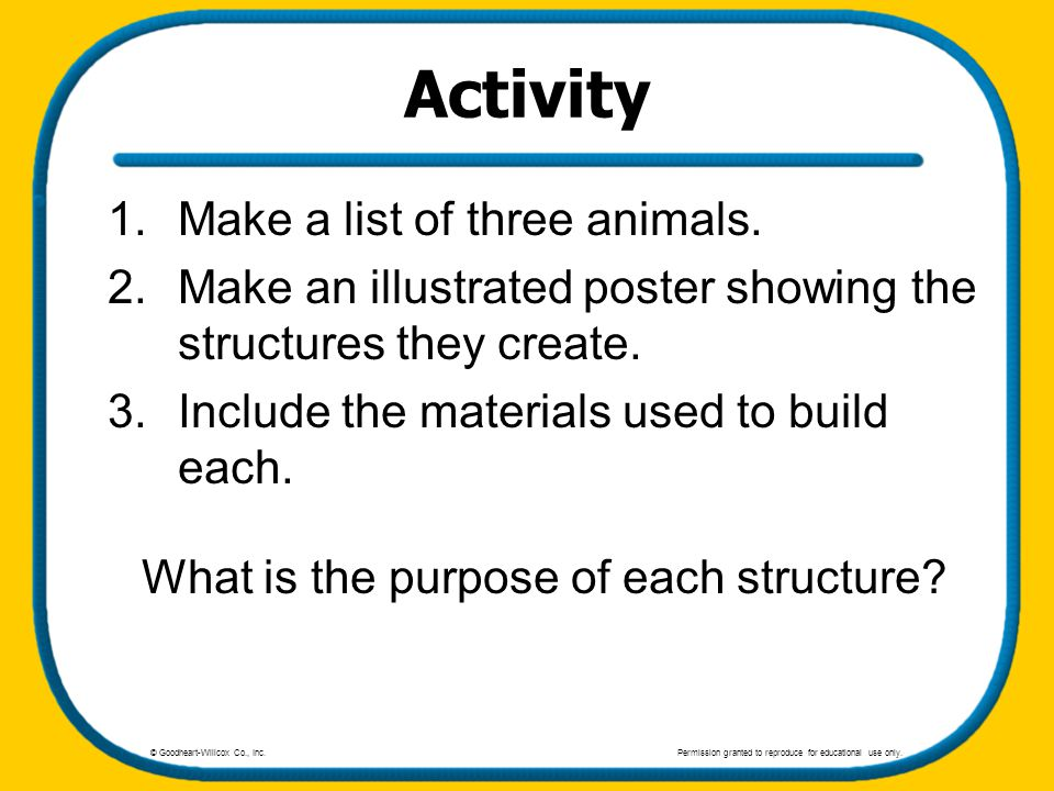 What is the purpose of each structure