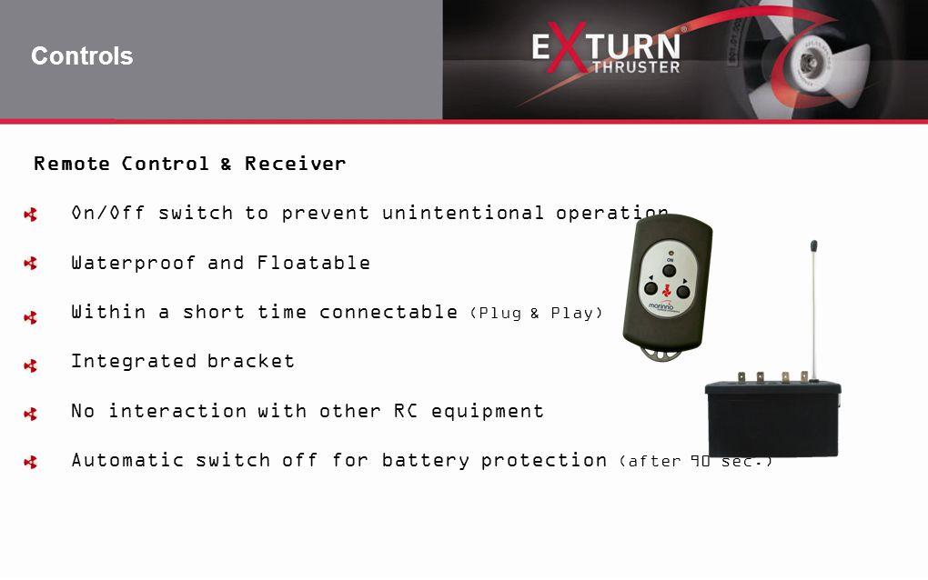 Controls Remote Control & Receiver