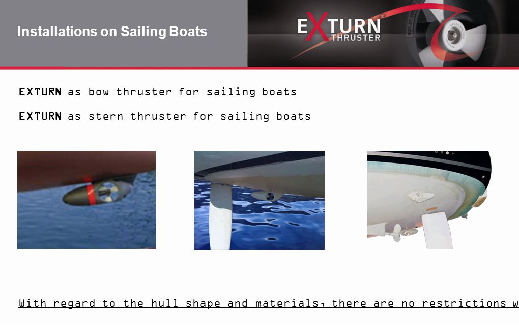 Installations on Sailing Boats