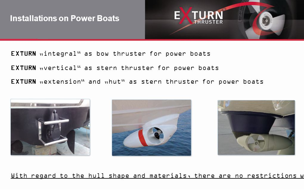 Installations on Power Boats