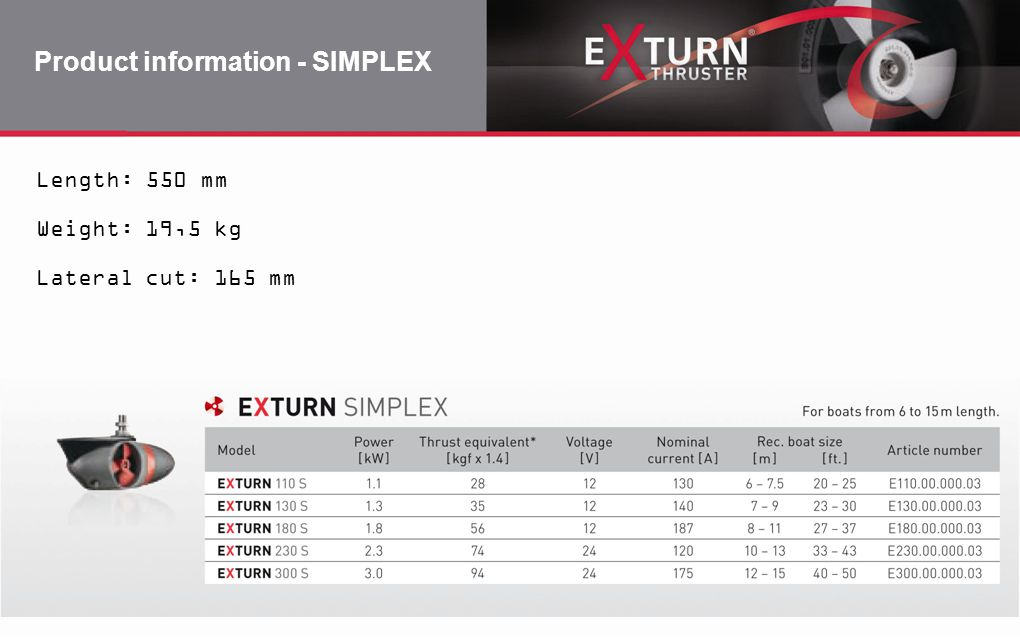 Product information - SIMPLEX