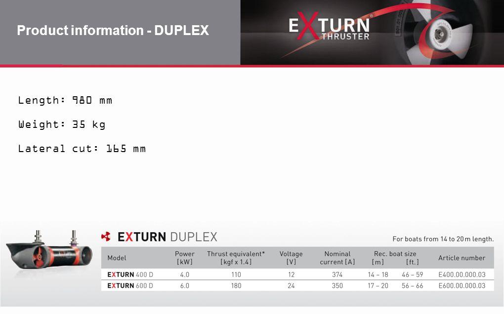 Product information - DUPLEX