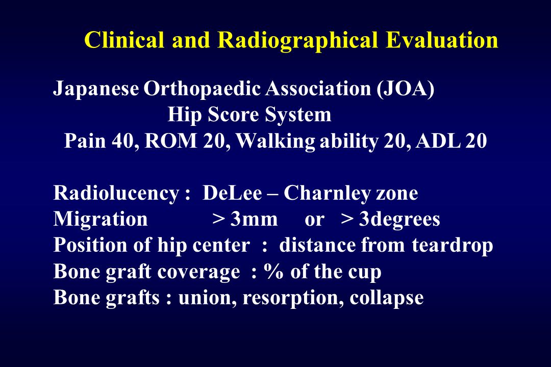 Clinical and Radiographical Evaluation