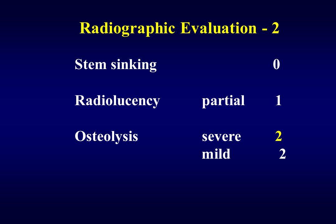 Radiographic Evaluation - 2