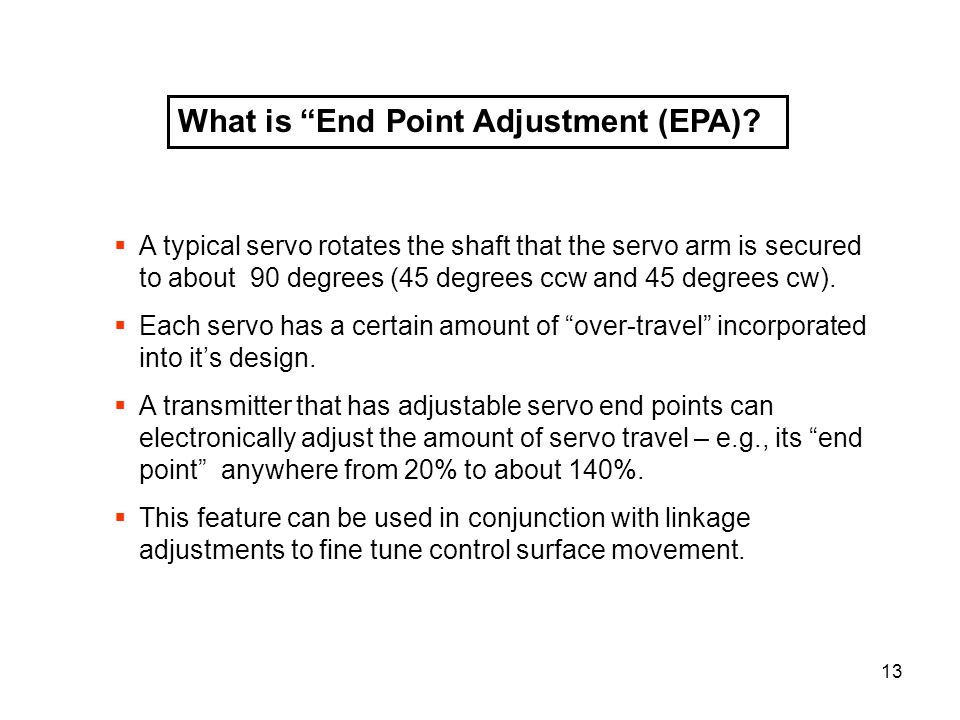 What is End Point Adjustment (EPA)