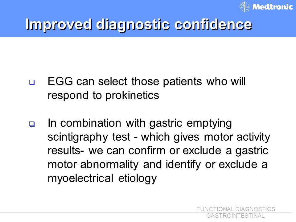 Improved diagnostic confidence