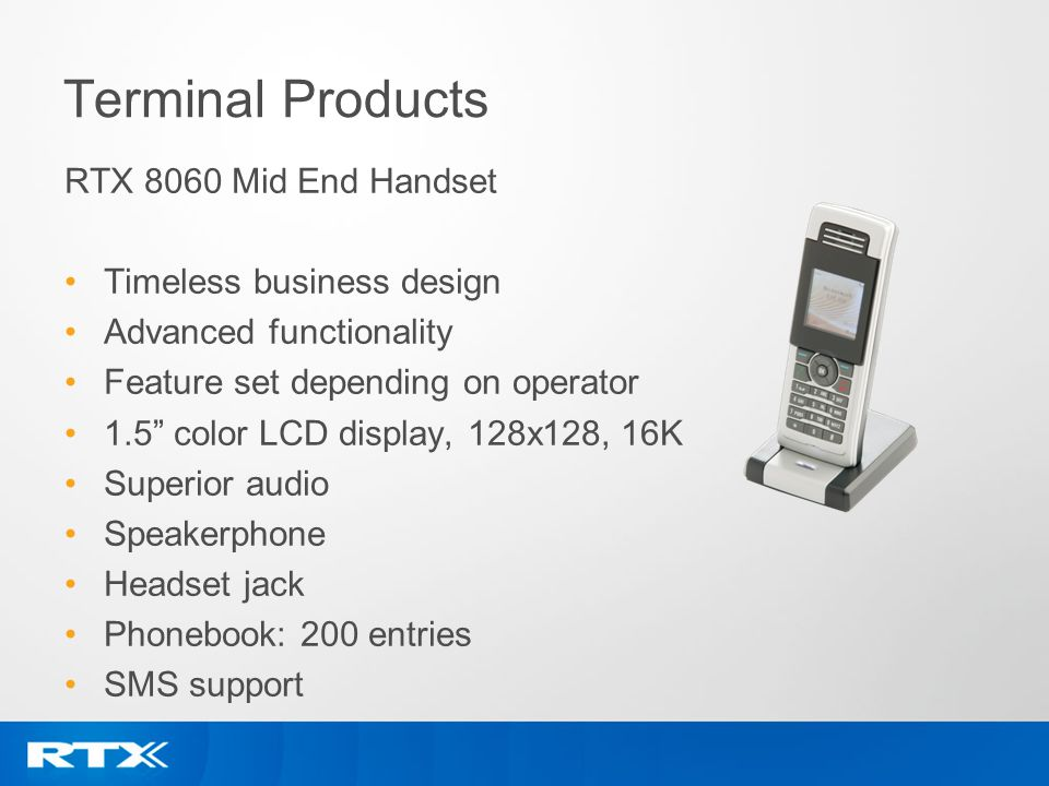 Terminal Products RTX 8060 Mid End Handset Timeless business design