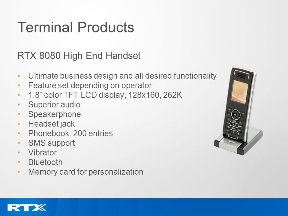 Terminal Products RTX 8080 High End Handset
