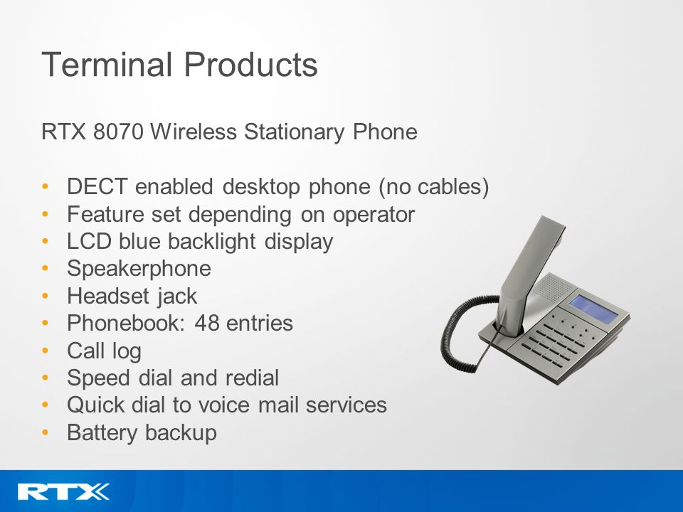 Terminal Products RTX 8070 Wireless Stationary Phone