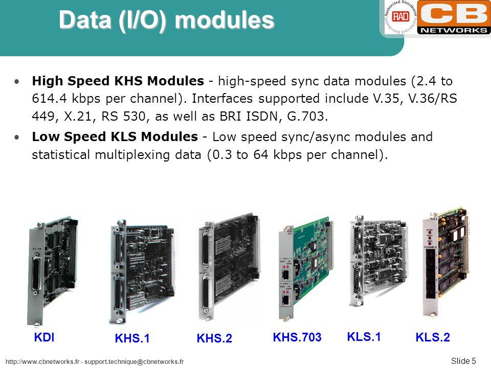 Data (I/O) modules