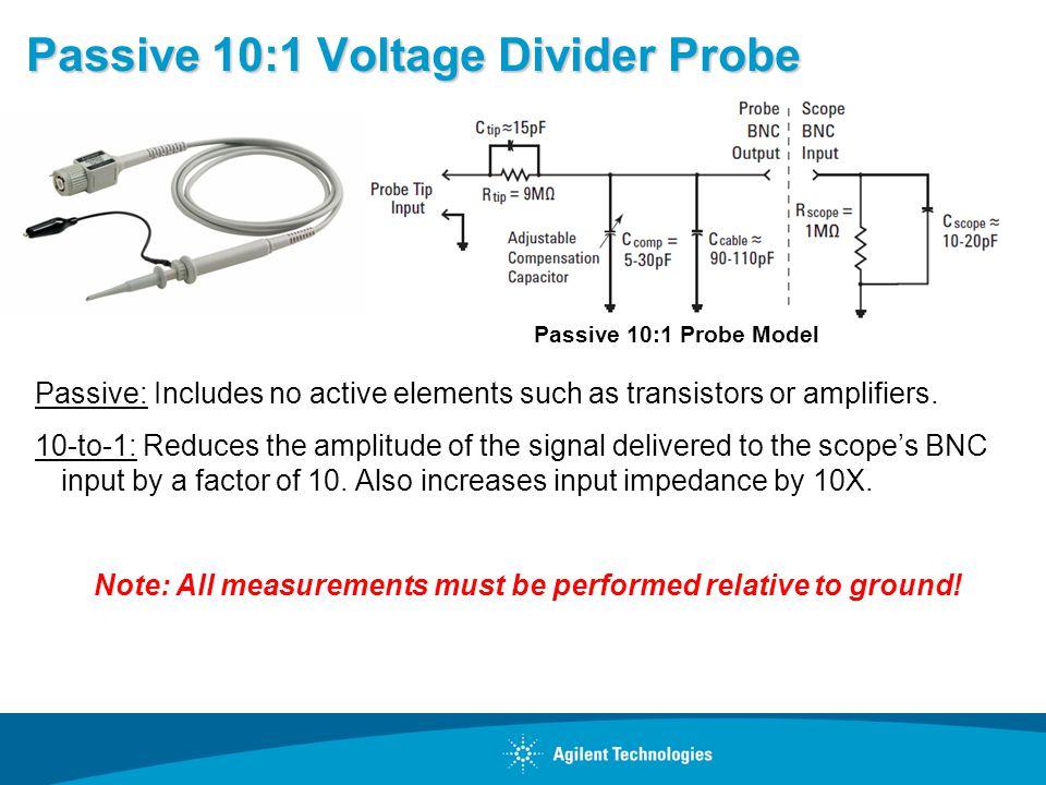 Passive 10:1 Voltage Divider Probe