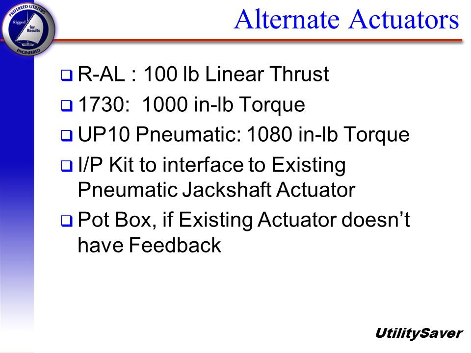 Alternate Actuators R-AL : 100 lb Linear Thrust