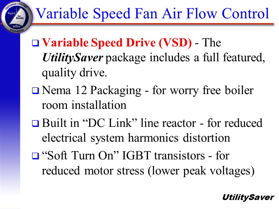 Variable Speed Fan Air Flow Control