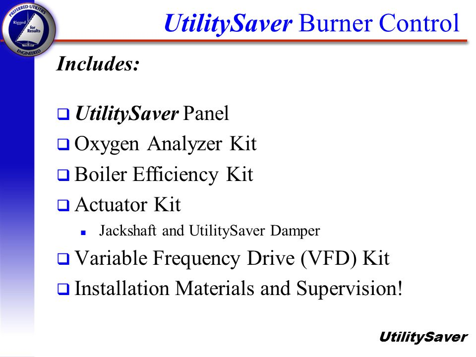 UtilitySaver Burner Control