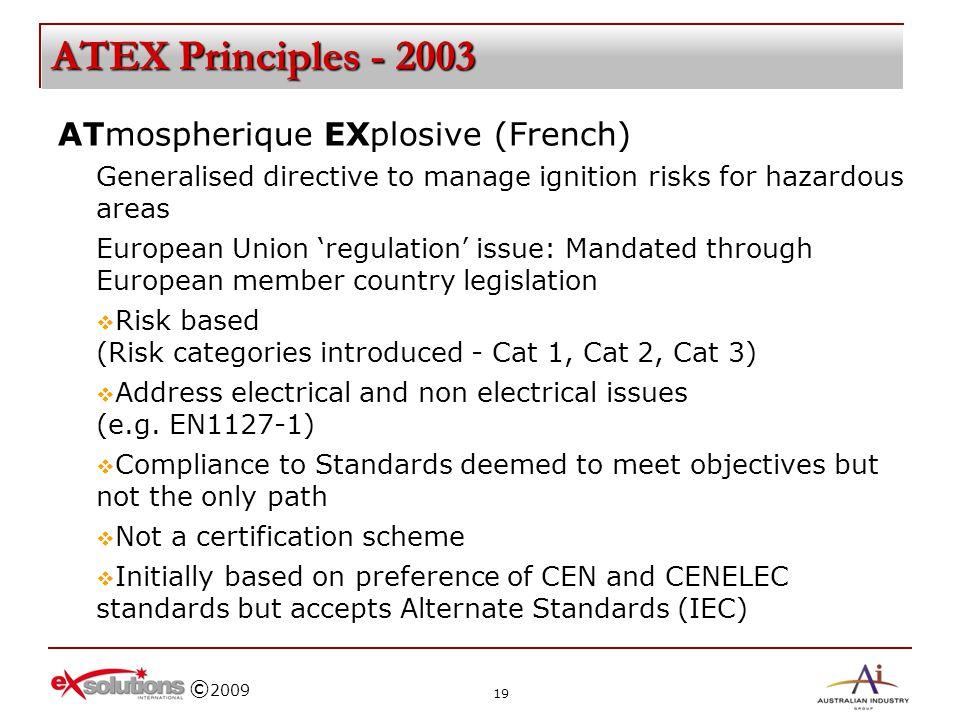 ATEX Principles - 2003 ATmospherique EXplosive (French)