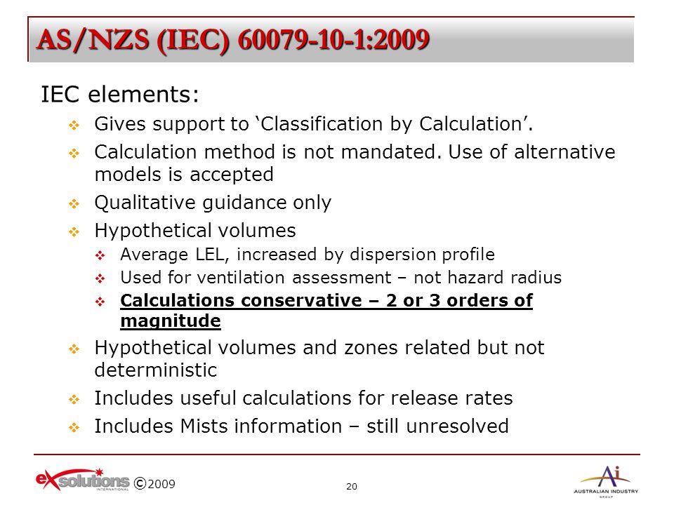 AS/NZS (IEC) 60079-10-1:2009 IEC elements: