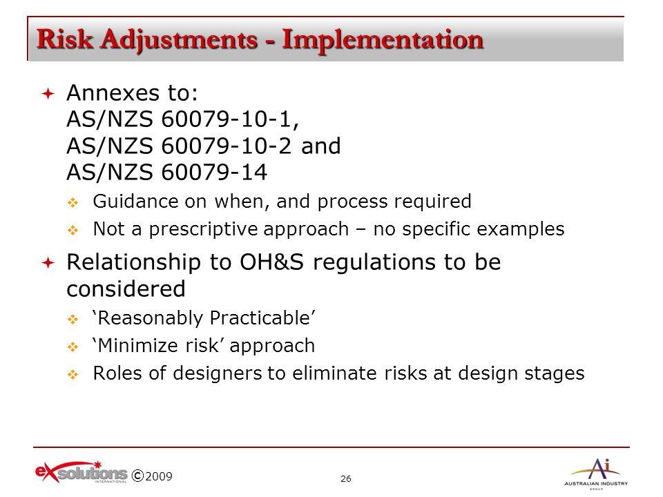 Risk Adjustments - Implementation