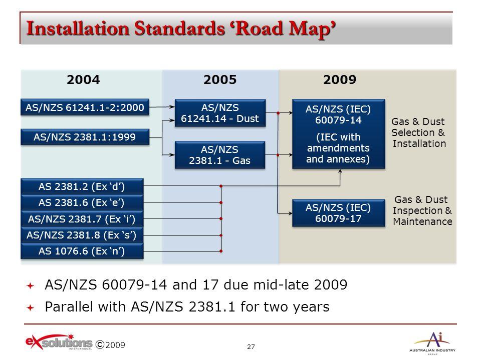 Installation Standards 'Road Map'