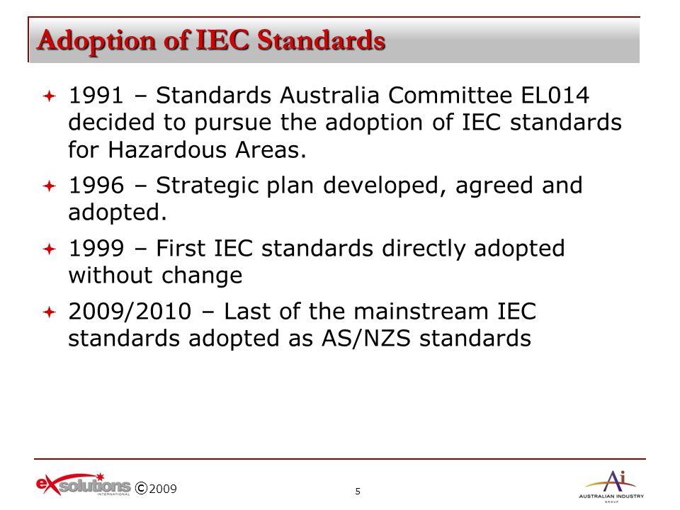 Adoption of IEC Standards
