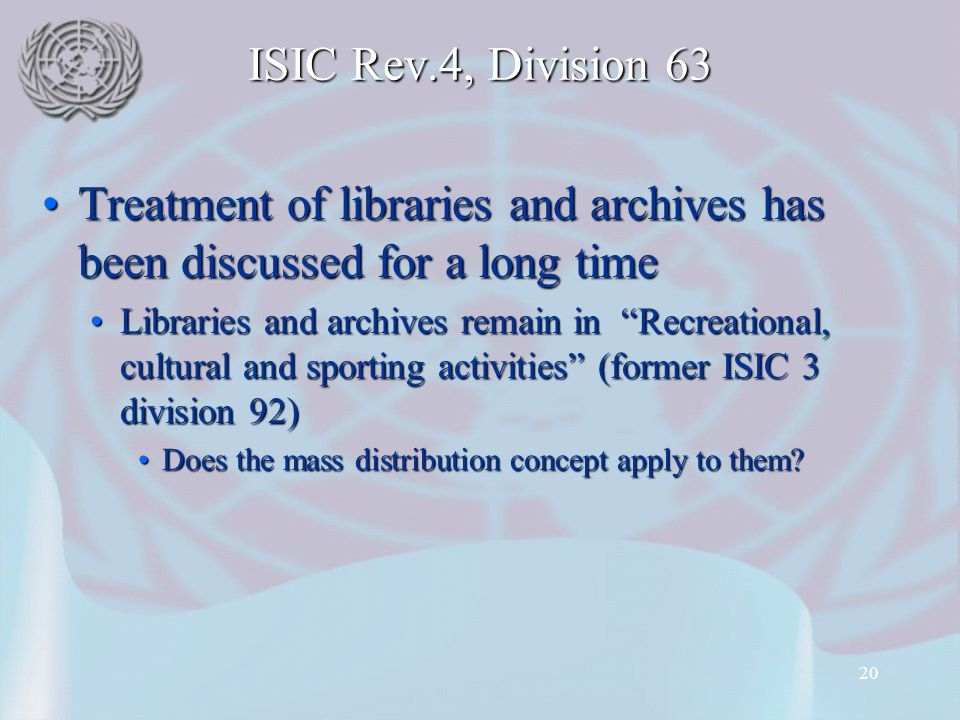 Treatment of libraries and archives has been discussed for a long time