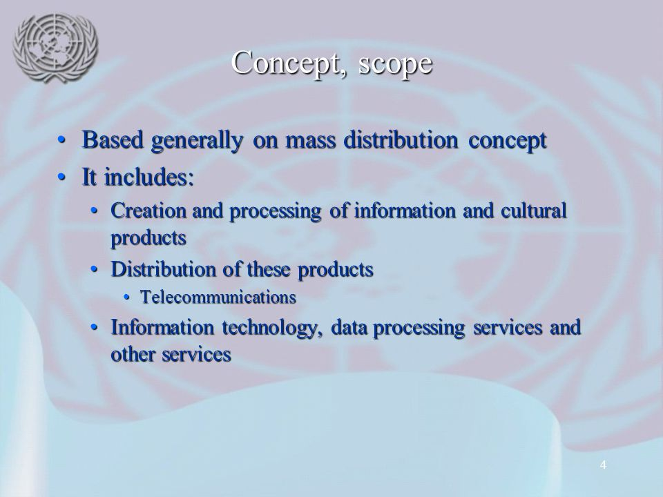 Concept, scope Based generally on mass distribution concept