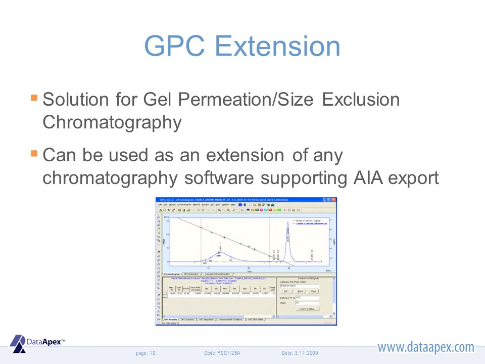 GPC Extension Solution for Gel Permeation/Size Exclusion Chromatography.