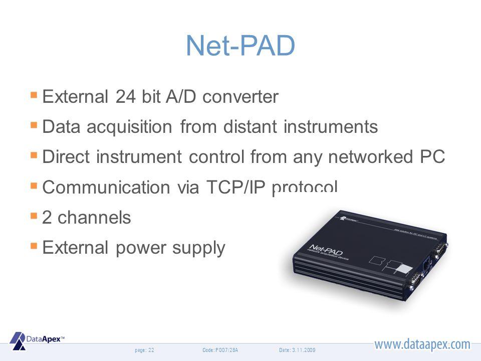 Net-PAD External 24 bit A/D converter