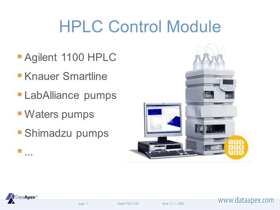 HPLC Control Module Agilent 1100 HPLC Knauer Smartline