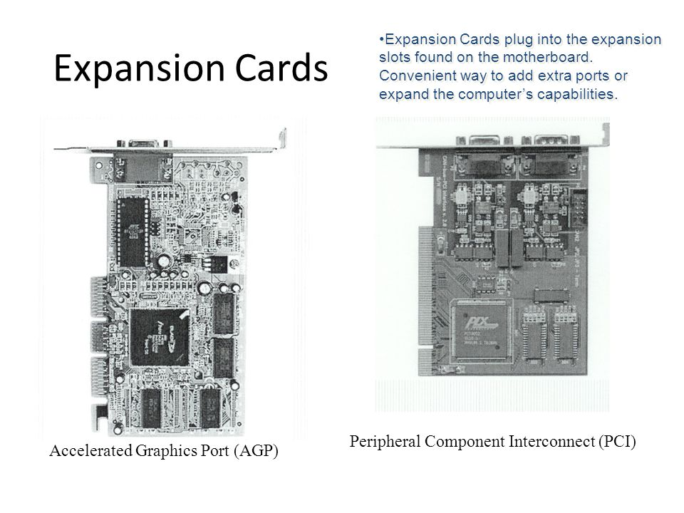 Expansion Cards Peripheral Component Interconnect (PCI)